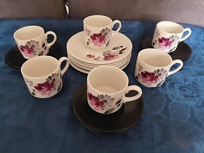 Rosita Myott Six Cups And Saucers And Side Plates • 20£