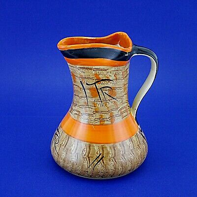 Vintage Myott, Son & Co. Large Hand Painted H8387 Pinchneck Jug - 8.25  High • 14.99£