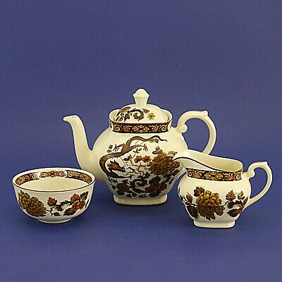 Vintage Myott Meakin Dragon Of Kowloon Teapot, Milk Jug & Sugar Bowl • 19.99£
