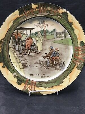 Royal Doulton Motoring Series Plate Itch Yer On Guvenor C1906 • 175£