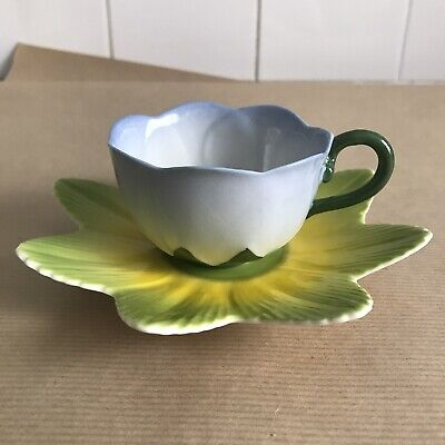 Vintage Laura Ashley Hand Painted China Porcelain Flower Teacup Saucer NEW RARE • 11.99£
