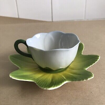 Vintage Laura Ashley Hand Painted China Porcelain Flower Teacup Saucer Chipped • 8.99£