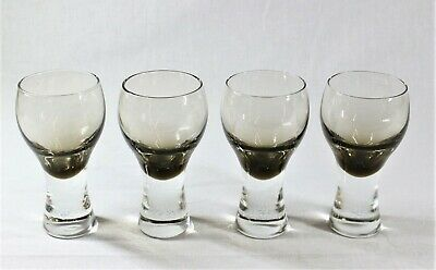 Caithness 4 Canisbay Peat Goblets - Designed 1973 By Colin Terris • 20£