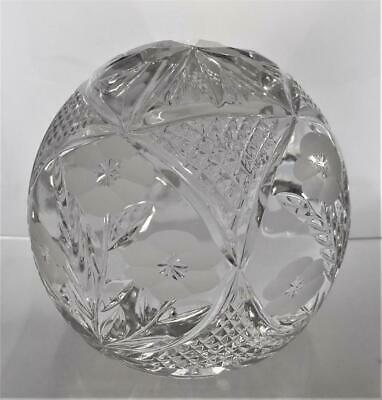 Heavy Rare Vintage Tutbury Lead Crystal Paperweight Clear Glass Flower Pattern • 29.99£