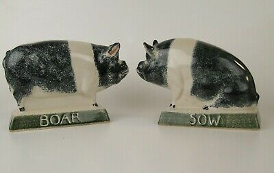 RYE Pottery Pigs Boar And Sow • 46£