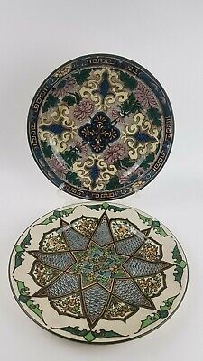 Royal Doulton Antique Cabinet Plates D3087 And D3572 Iznik Style Hand Decorated • 25£