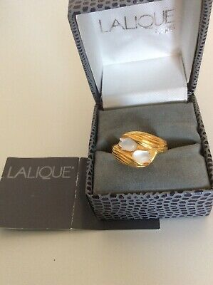 Vintage Lalique Muguet (lily Of The Valley) Gold Plated Ring Size M / N  • 150£