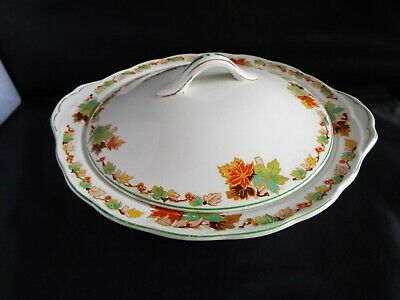 Lovely Grindley Cream Petal Ceramic Serving Bowl Tureen With Lid  • 12.99£