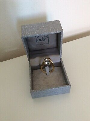 Lalique  Oxygene  Clear Crystal Ring Size M / N • 120£