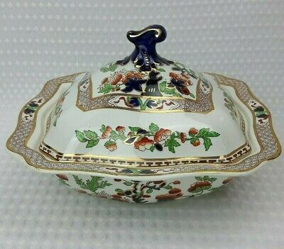 Soho Pottery Solian Ware - Indian Tree Large Lidded Tureen - Vintage Floral 1/3 • 28£
