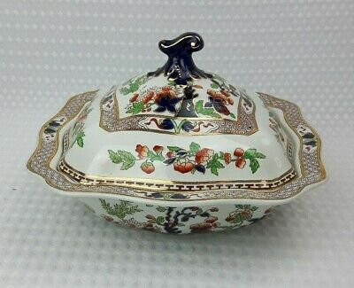 Soho Pottery Solian Ware - Indian Tree Large Lidded Tureen - Vintage Floral 2/3 • 23£