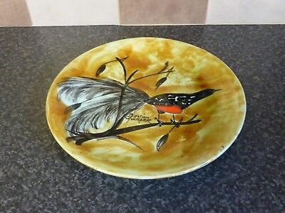 Vintage Bastian Quimper Pottery Plate Large Tale Song Bird Signed Excellent Con • 28.95£