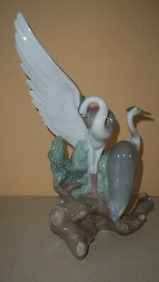 Nao Bird Figure Cranes / Herons Wing Out Preening Stunning Immaculate Piece 10  • 32£