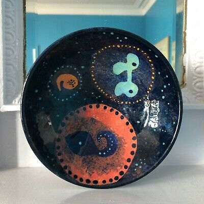 Gwili Pottery Wales British Studio Pottery Bowl Dish Alien Design Hand Painted   • 25£
