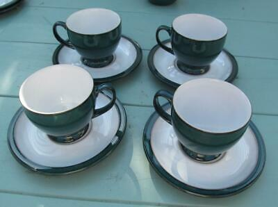 Denby  Greenwich  Tea  Cups &  Saucers Set Of 4        £19.99 ( Post Free UK ) • 19.99£