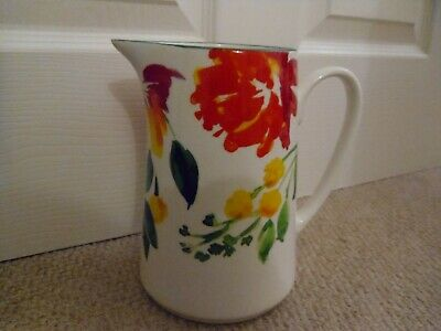 Laura Ashley 'Farnley' Painted Floral Jug ( 8 X 8 X 5 Inches) • 11.30£
