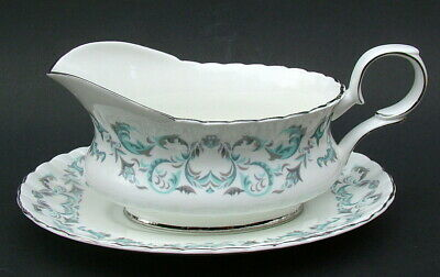 Royal Stafford 1980's Harmony Pattern Gravy Sauce Boat & Stand - Looks In VGC • 14.95£