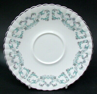 Royal Stafford 1980's Harmony Pattern Lg Soup Bowl Saucers 17.5cm - Look In VGC • 4.95£