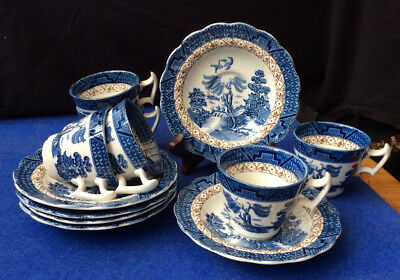 Booths Real Old Willow 12 Piece Coffee Set, A8025, No Gilding • 35£
