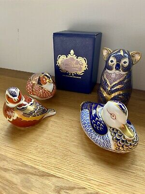 Royal Crown Derby X4 Animal Paperweights • 80£