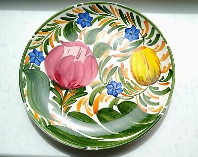 Vintage Wade Plate Royal Victorian  Capri  Hand Painted Flowers 9.75 Ins • 4.95£