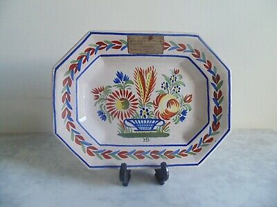 Antique HB Quimper French Faience Bowl Late 1800s. • 29.99£