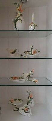GRAFF PORCELAIN Pottery Butterfly Vases, Bells, Cups & Saucers, Iris, Lily Cups • 18£