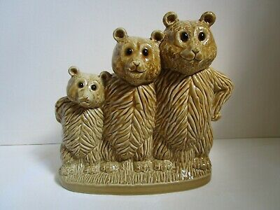 Wade Nursery Rhyme Money Box - The Three Bears - With Original Stopper • 14£