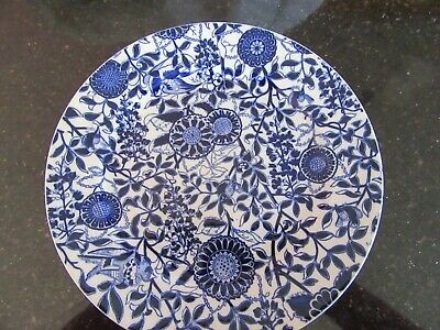 Antique BWM & Co Brown Westhead Moore Flow Blue Indian Express Dinner Plate 10  • 20£