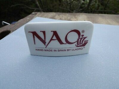 Nao Pottery Lg Advertising Shop Display Sign Rectangular For Collection Display • 14.99£