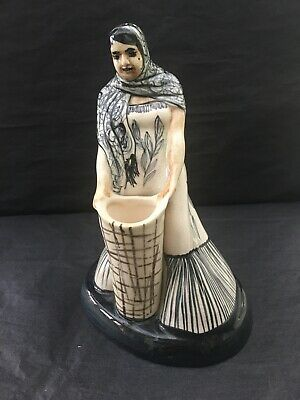 Rare Large Jersey Pottery Mexican Lady Water Carrier • 5£