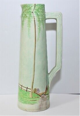Edward Radford Handpainted Art Deco Tall Jug Very Decorative • 20£