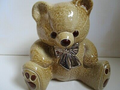 Wade Teddy Bear Money Box Limited Edition With Silver Bow • 14£