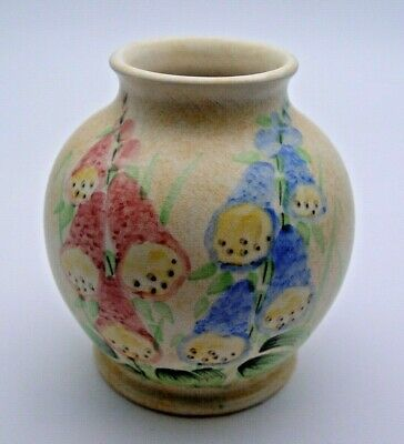 ART DECO E. RADFORD FOXGLOVE VASE C.1930's - PERFECT • 24.99£