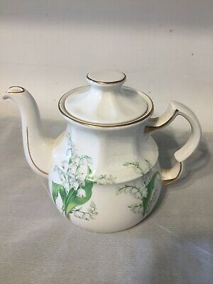 VIntage Tea Pot Lily Of The Valley Design Ellgreave Wood & Sons  • 3.99£