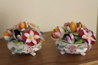 A Pair Of Minton Haddon Hall Pattern Flower / Posy Bowls • 12.50£