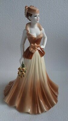 Coalport Figurine Ladies Of Fashion Yvonne Hand Crafted Exclusive 1998 England • 59£