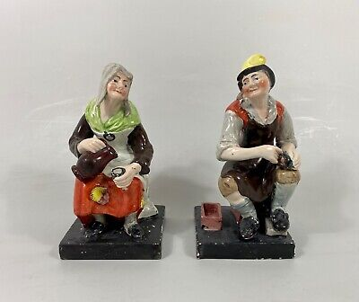 Pair Staffordshire Figures 'Jobson & Nell', C. 1820. Enoch Wood Factory. • 0.99£