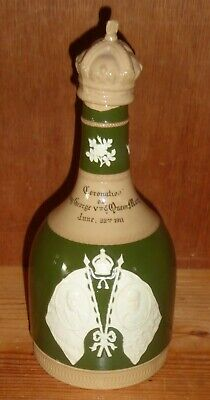 Antique Spode Whisky Decanter Commemorating The Coronation Of George V 1911 • 0.99£