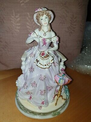 Limited Edition Royal Worcester Figure The Graceful Arts No 1455 Embroidery • 2.20£