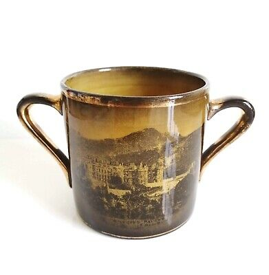 Antique Victorian (1891) Ridgways Black Loving Cup Hollyrood Palace Forth Bridge • 5£