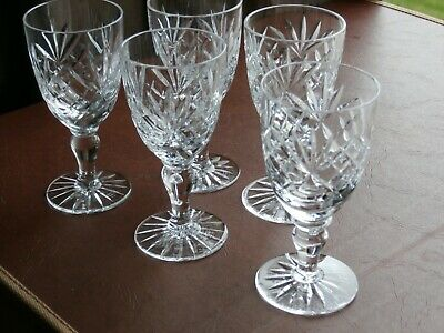 5 Royal Doulton Sherry Glasses - Ex Cond- Stamped • 7.99£