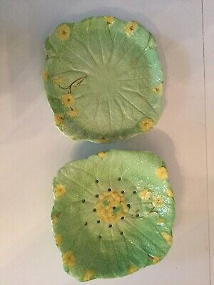 Rubian Art Pottery Dish And Stand In Primula • 10£