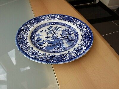 Vintage Old Willow English Ironstone Staffordshire England 10   Plate  • 5.99£