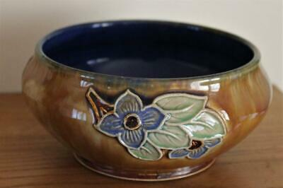 A Royal Doulton Tubelined Stoneware Bowl Circa 1920 Signed By Rose Collins • 28£