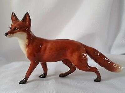 BESWICK FOX STANDING MODEL No. 1016A LARGE RED BROWN GLOSS . • 44.99£