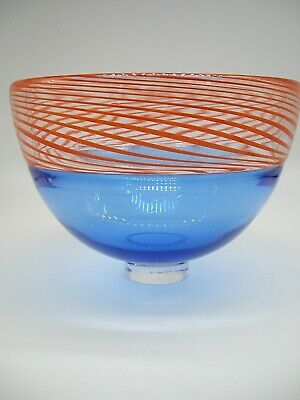 Signed Dated James Maskrey Contemporary British Art Hot Glass Bowl Collectable • 59£