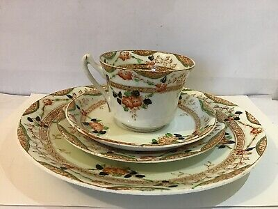 Sutherland China Set 4 Peices Plate Side Plate Sandwich Plate Tea Cup And Saucer • 4£