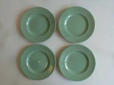 Vintage Woods Ware Beryl Green 1940s/50s Utility - 4 Plates  • 5£