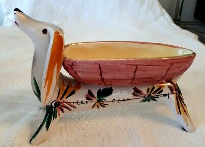 1960s Italian Pottery Dish In Form Of Dachshund • 10£